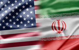 flags of U.S. and Iran